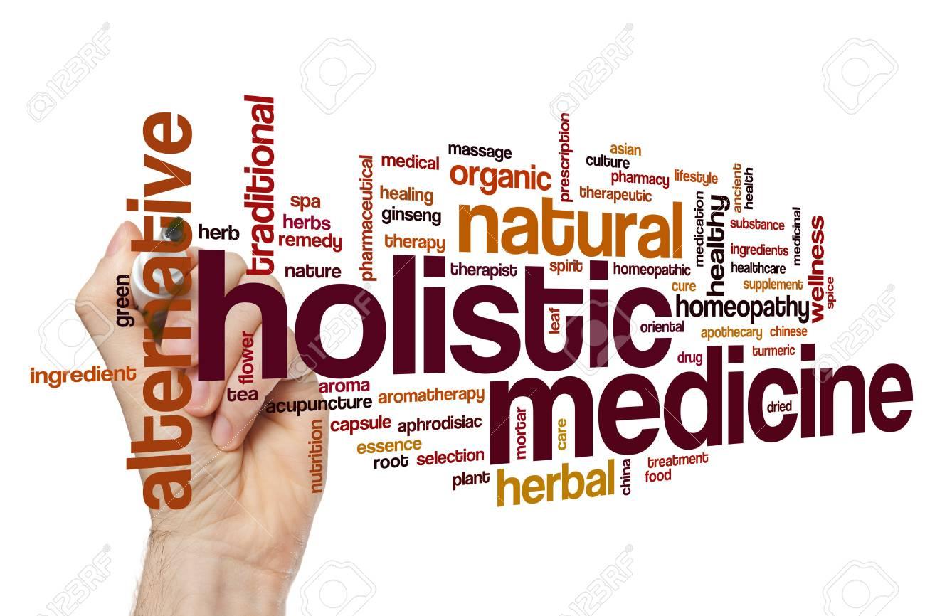 Holistic medicine word cloud concept
