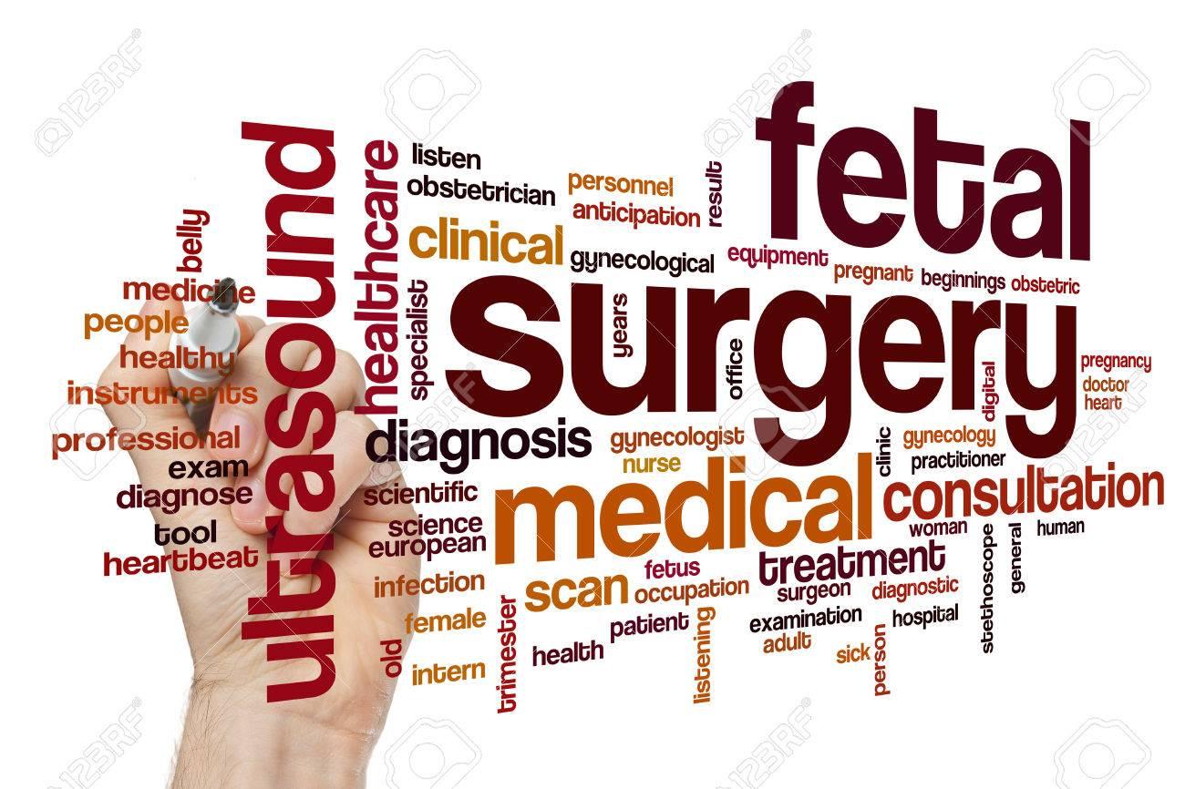 Fetal surgery word cloud concept
