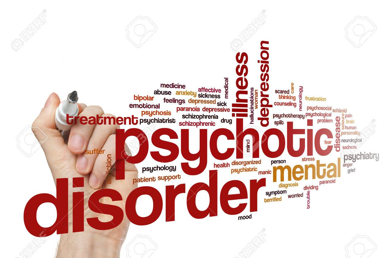 psychotic disorder word cloud stock photo picture and royalty free
