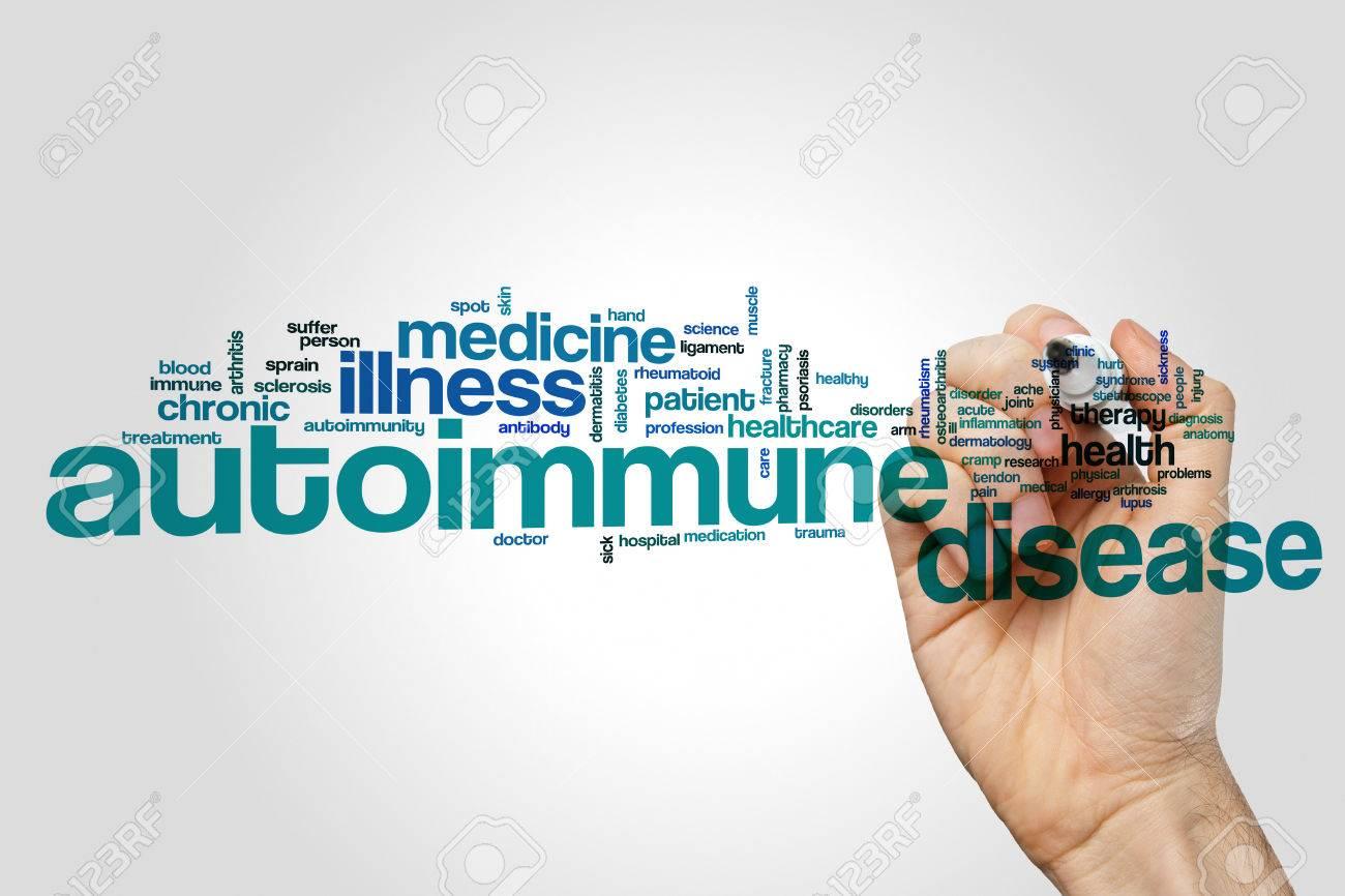 Autoimmune disease word cloud concept - 73732986