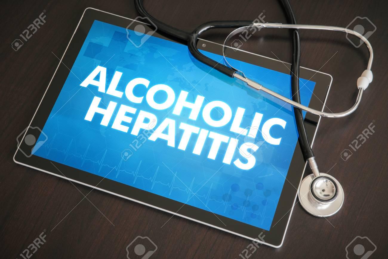 Alcoholic hepatitis (liver disease) diagnosis medical concept