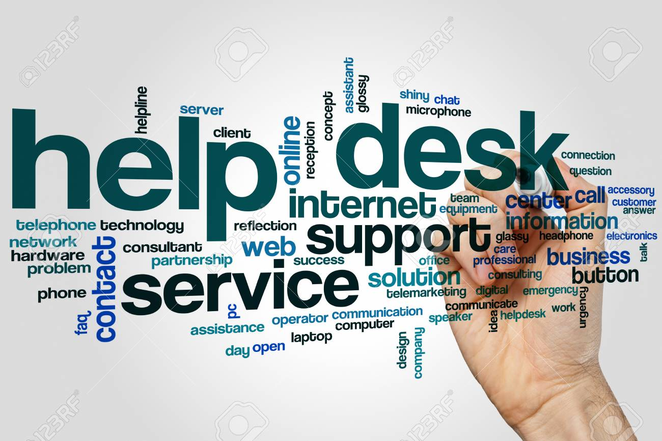 Help Desk Word Cloud Concept On Grey Background Stock Photo Picture And Royalty Free Image Image 76147522