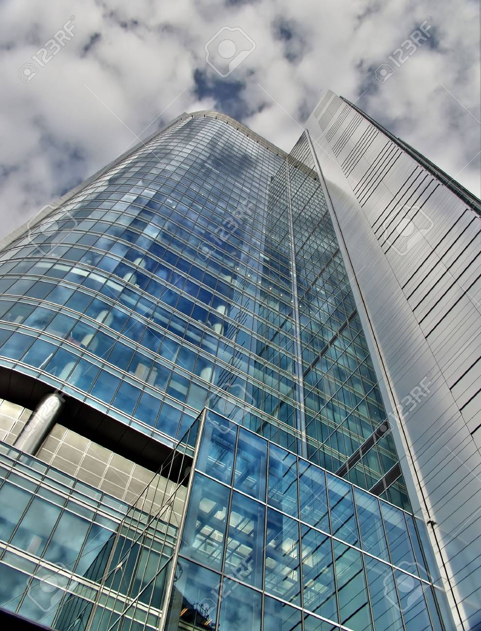 One of the new glass skyscaper in Warsaw Poland Stock Photo - 1253649
