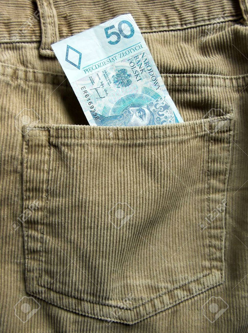 Polish bank note in a back trouser pocket Stock Photo - 1374481