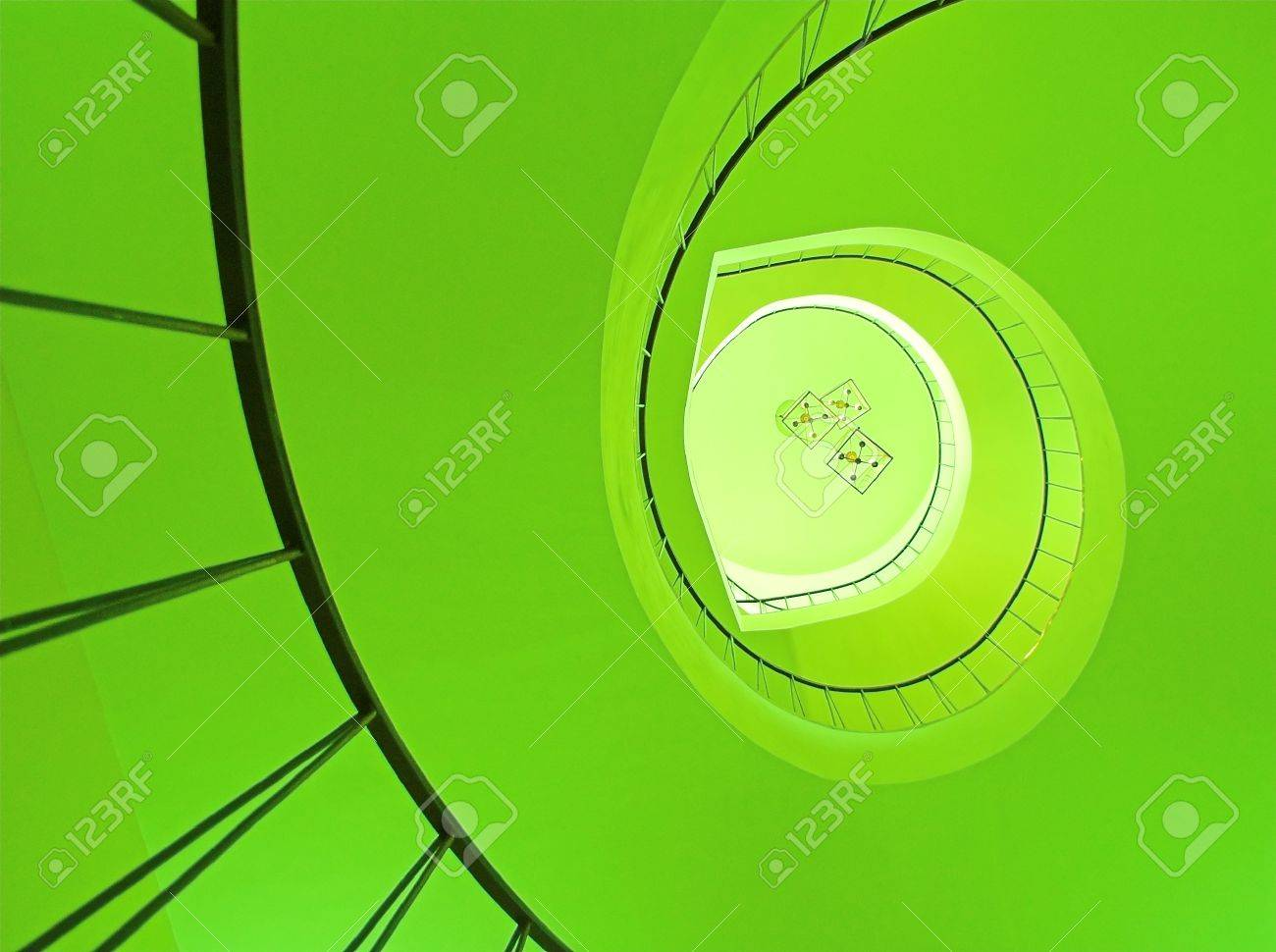 Spiral stairway in Wilanow palace in Warsaw Stock Photo - 1600635