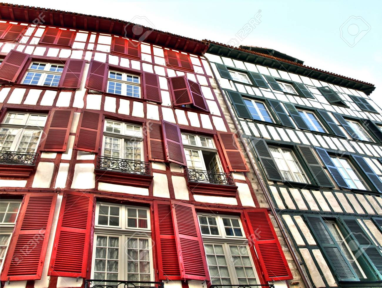 Colorful house in Bayonne France Stock Photo - 2508521