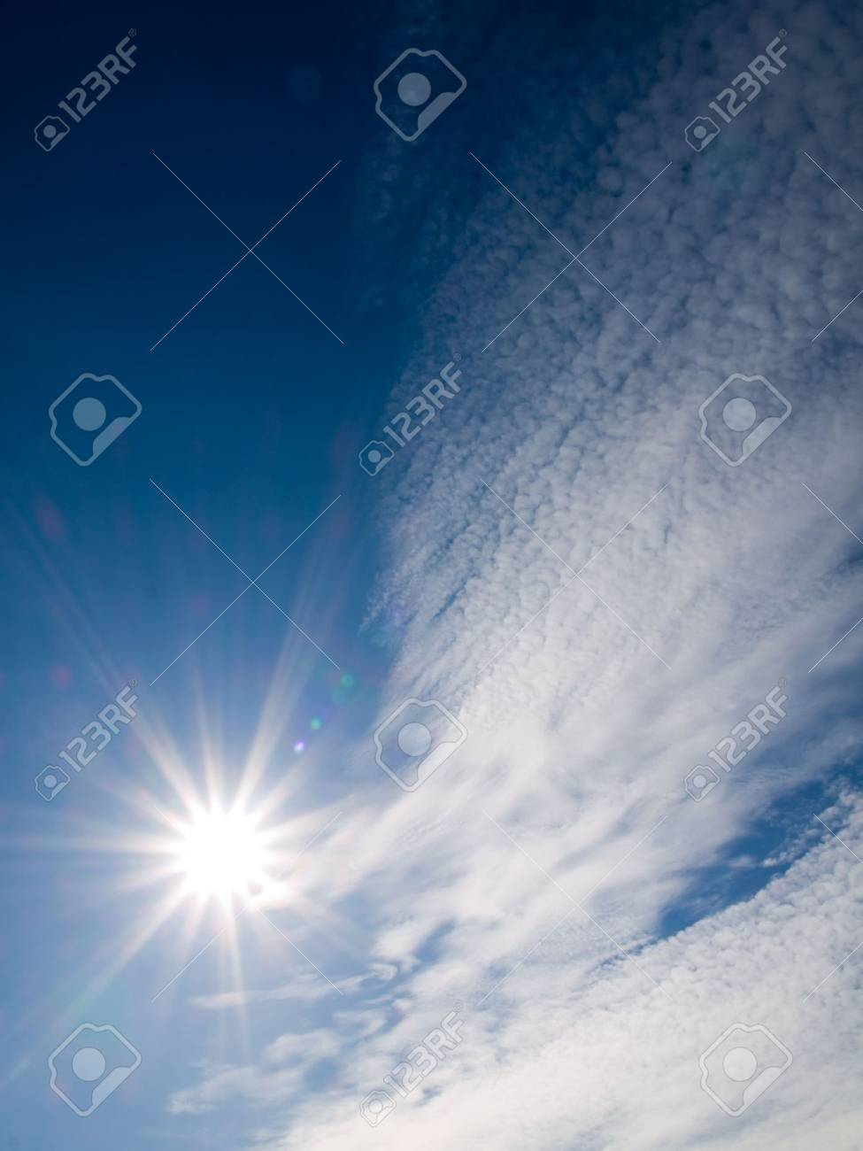 Shining sun with crossed stars effect Stock Photo - 2584408