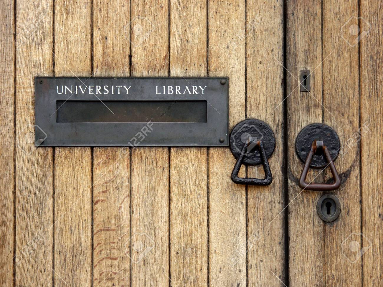 University library entrance  with letterbox Stock Photo - 3535279
