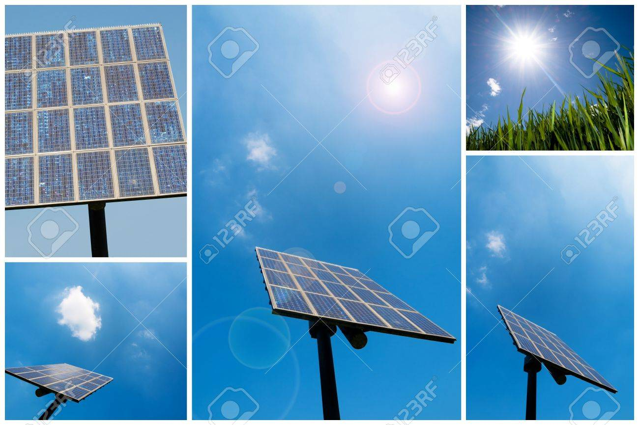 A collection of solar energy related pictures Stock Photo - 5381037