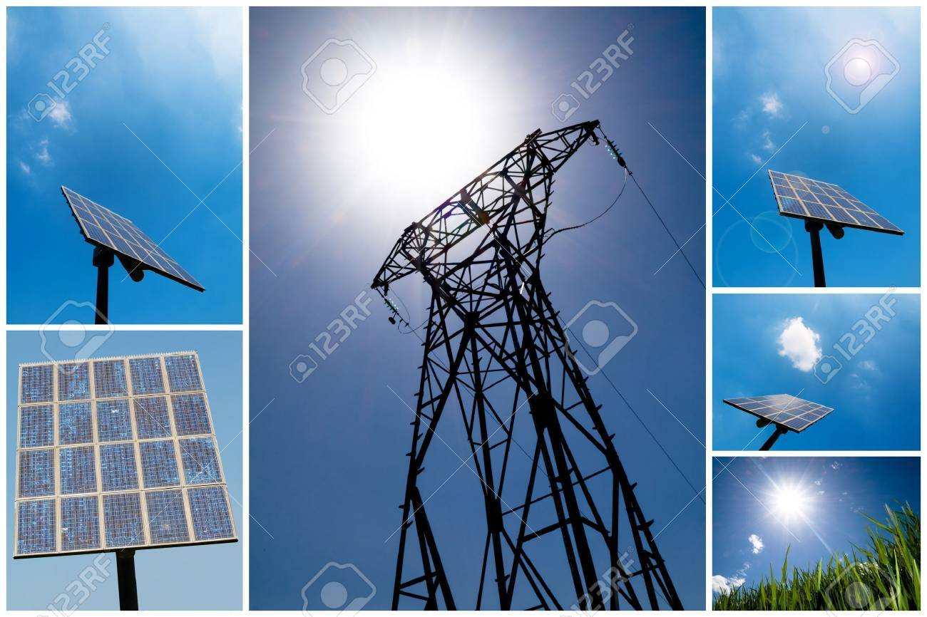 A collection of solar energy related pictures Stock Photo - 5381009