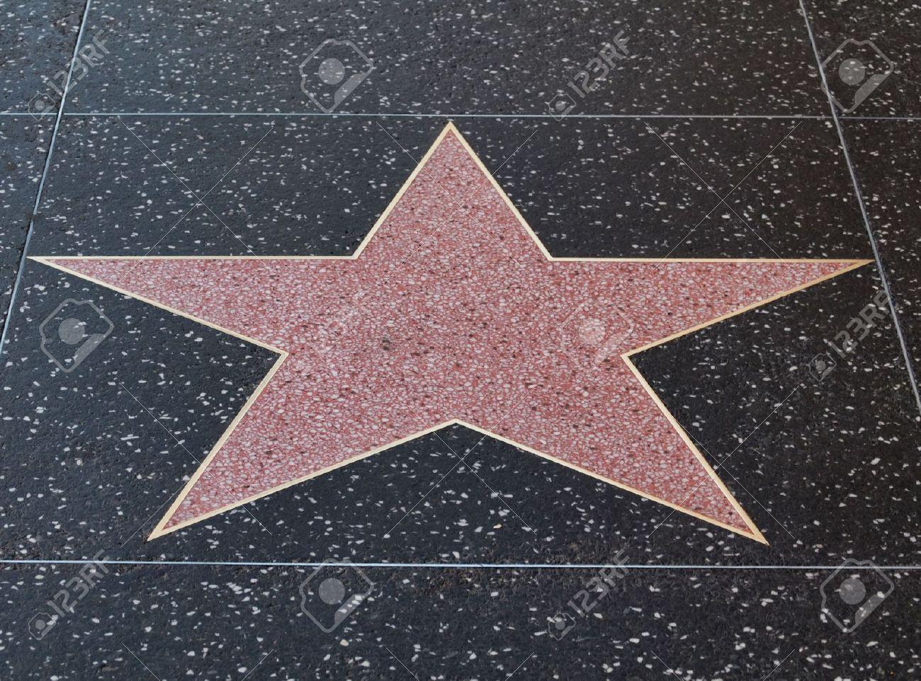 Empty hollywood star on  the sidewalk of Hollywood boulevard  California Stock Photo - 6221313