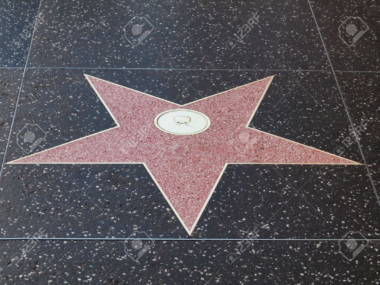 Empty hollywood star on the sidewalk of Hollywood boulevard  California Stock Photo - 6221316