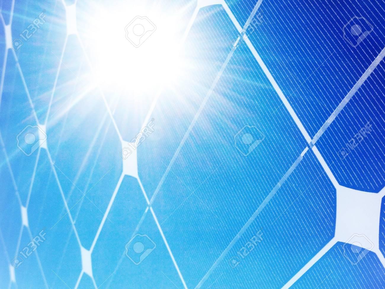 Photovoltaic solar panel against bright sunshine Stock Photo - 7856234