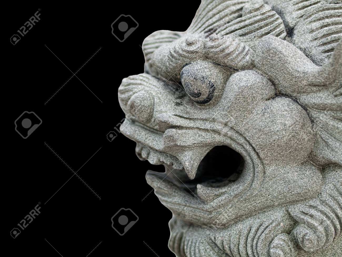 Dragon head stone statue Stock Photo - 8775968