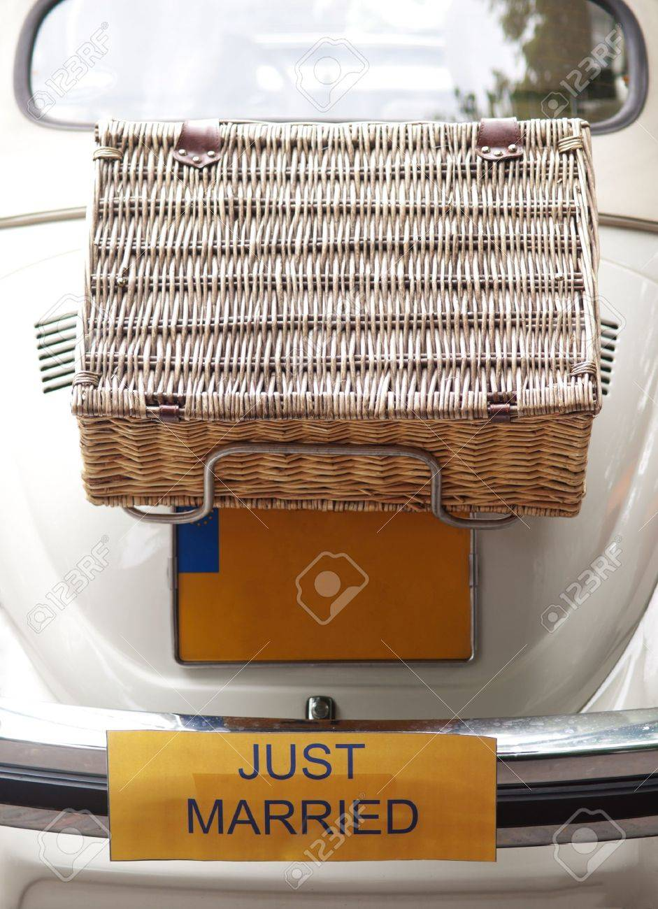 Just married car Stock Photo - 10180595