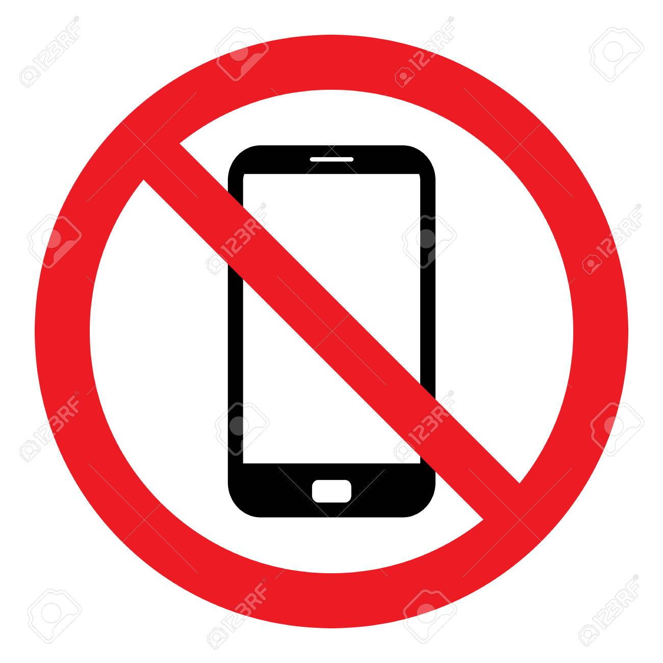 No Cell Phone Sign - 61588726