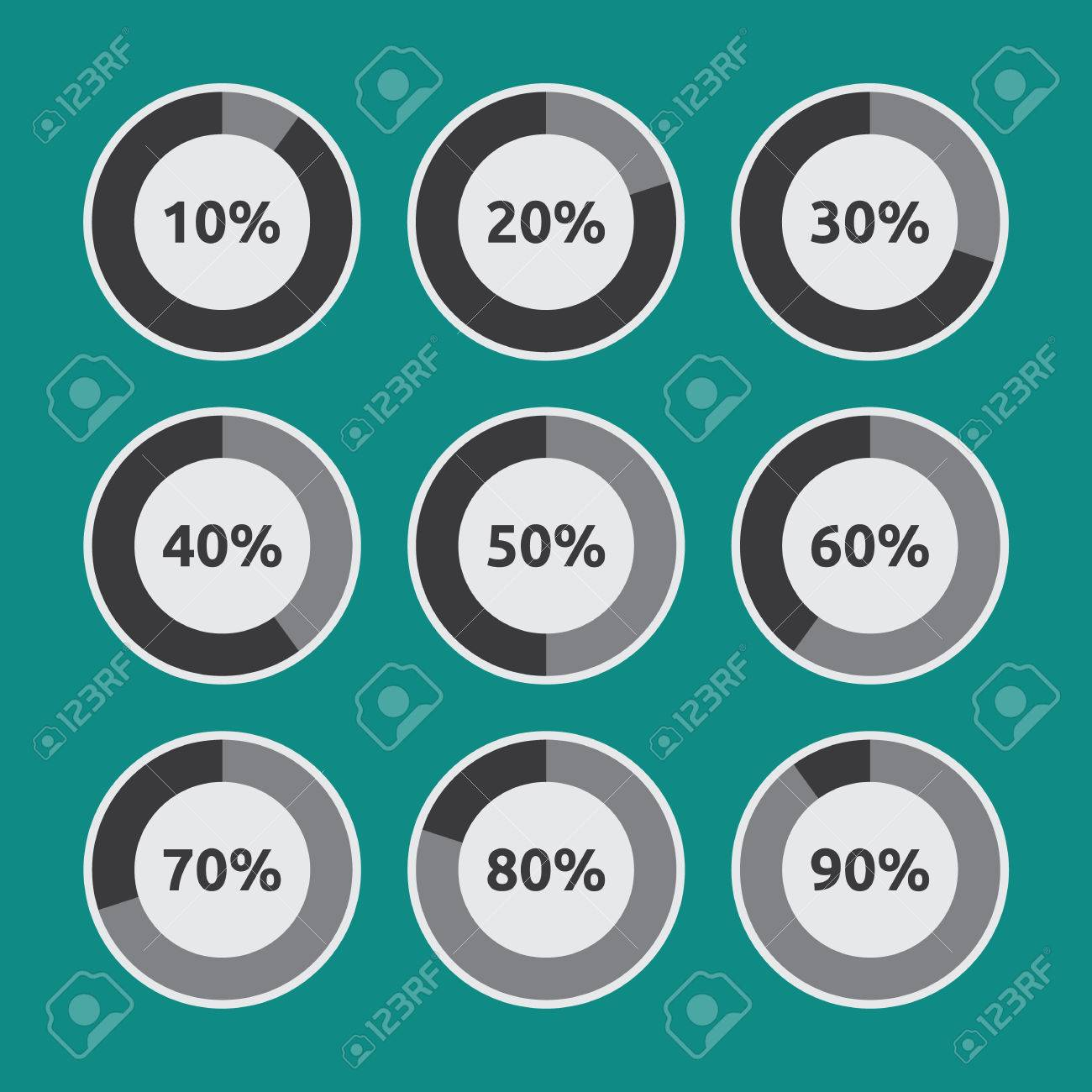 Set of circle diagram pie charts with different percentage level set of circle diagram pie charts with different percentage level for infographic elements stock vector ccuart Image collections