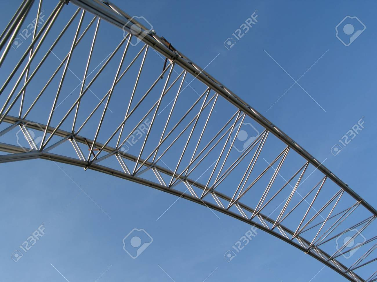 Metal construction and blue sky Stock Photo - 454098