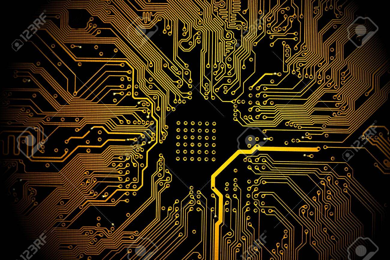 Remarkable High Technology Background Yellow Printed Circuit Board Stock Wiring Digital Resources Biosshebarightsorg