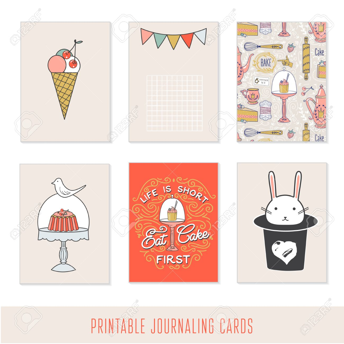 romantic sweet cards notes stickers labels tags with cute