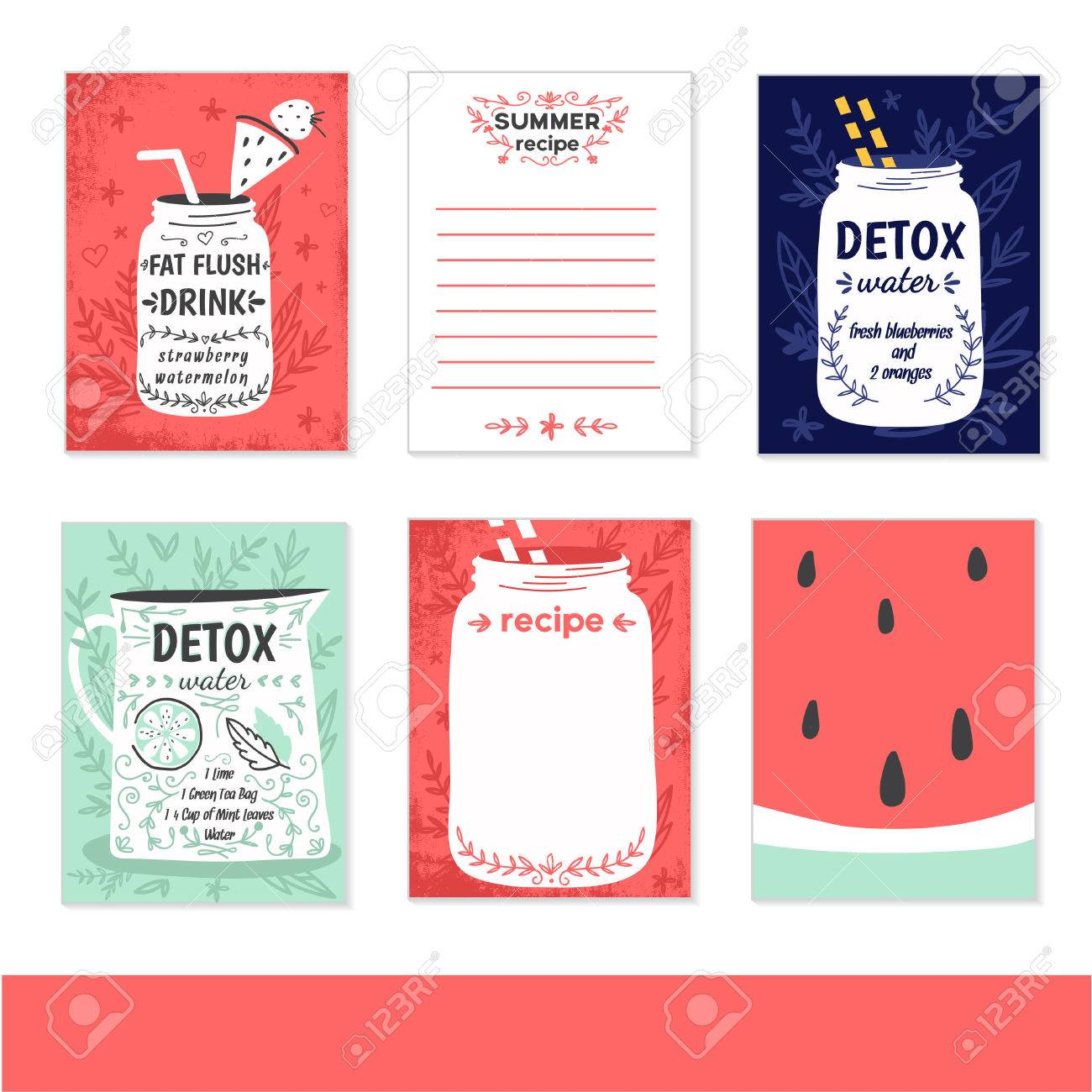 cooking cards, notes, stickers, labels, tags with cute decorative