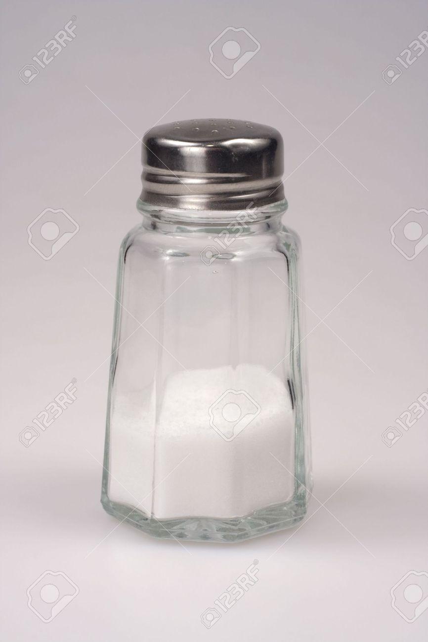 Close-up shot of a salt shaker on white background Stock Photo - 2486913