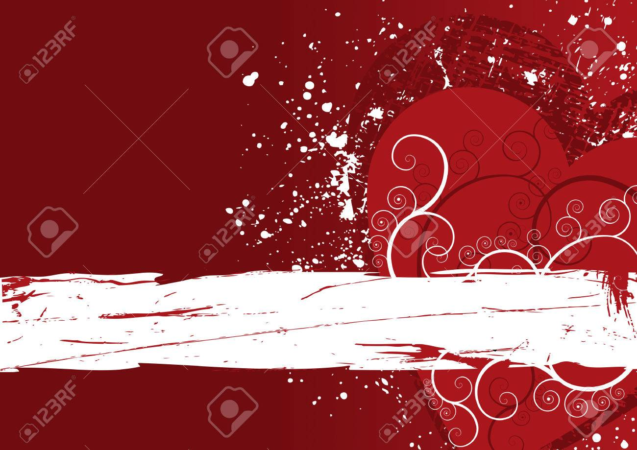 Red heart grunge abstract background with copy space Stock Vector - 4608168