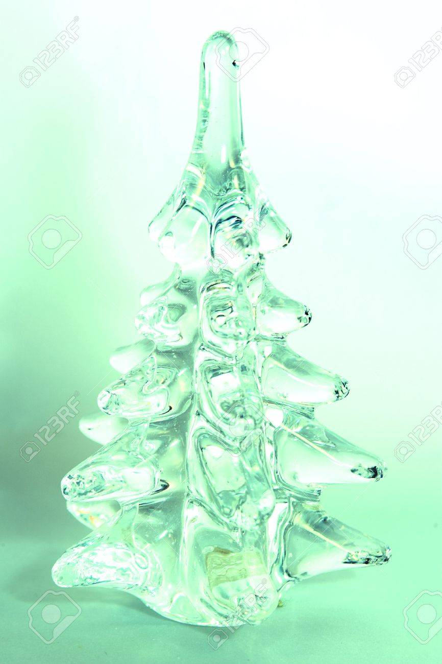 glass christmas tree figurine stock photo 265195 - Glass Christmas Tree