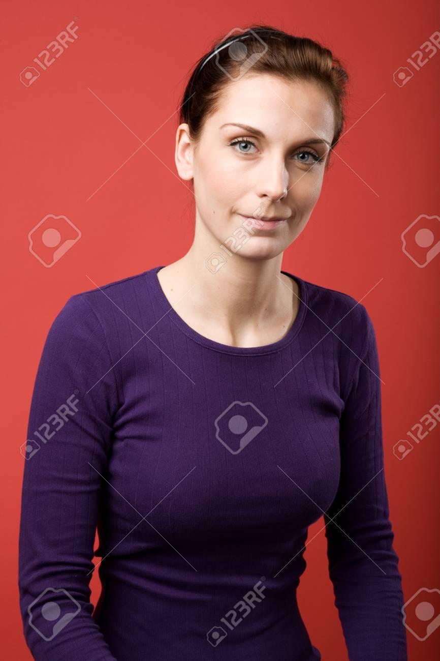 A casual portrait of a brunette caucasian female Stock Photo - 2346395