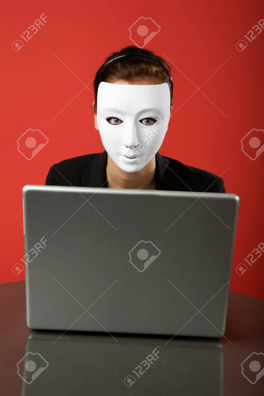 A female surfing the web anonymously Stock Photo - 2346287