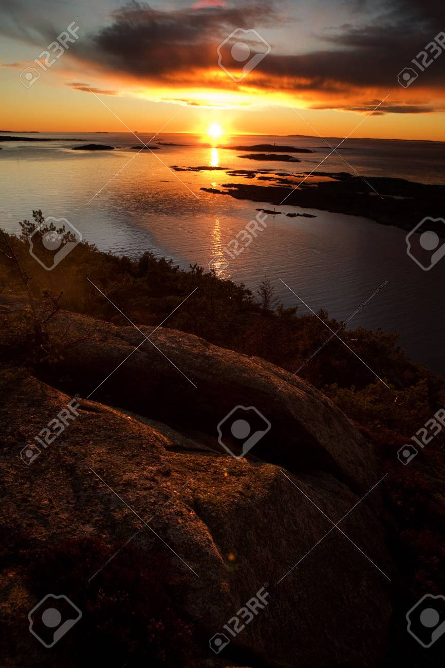 Coastal Landsacpe on the very outside of the Oslo Fjord near Fredrikstad, Norway. Stock Photo - 2348670