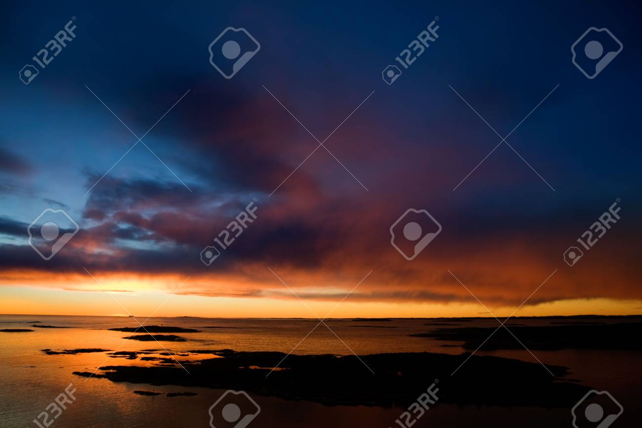 Beautiful coastal Landsacpe on the very outside of the Oslo Fjord near Fredrikstad, Norway. Stock Photo - 2348563