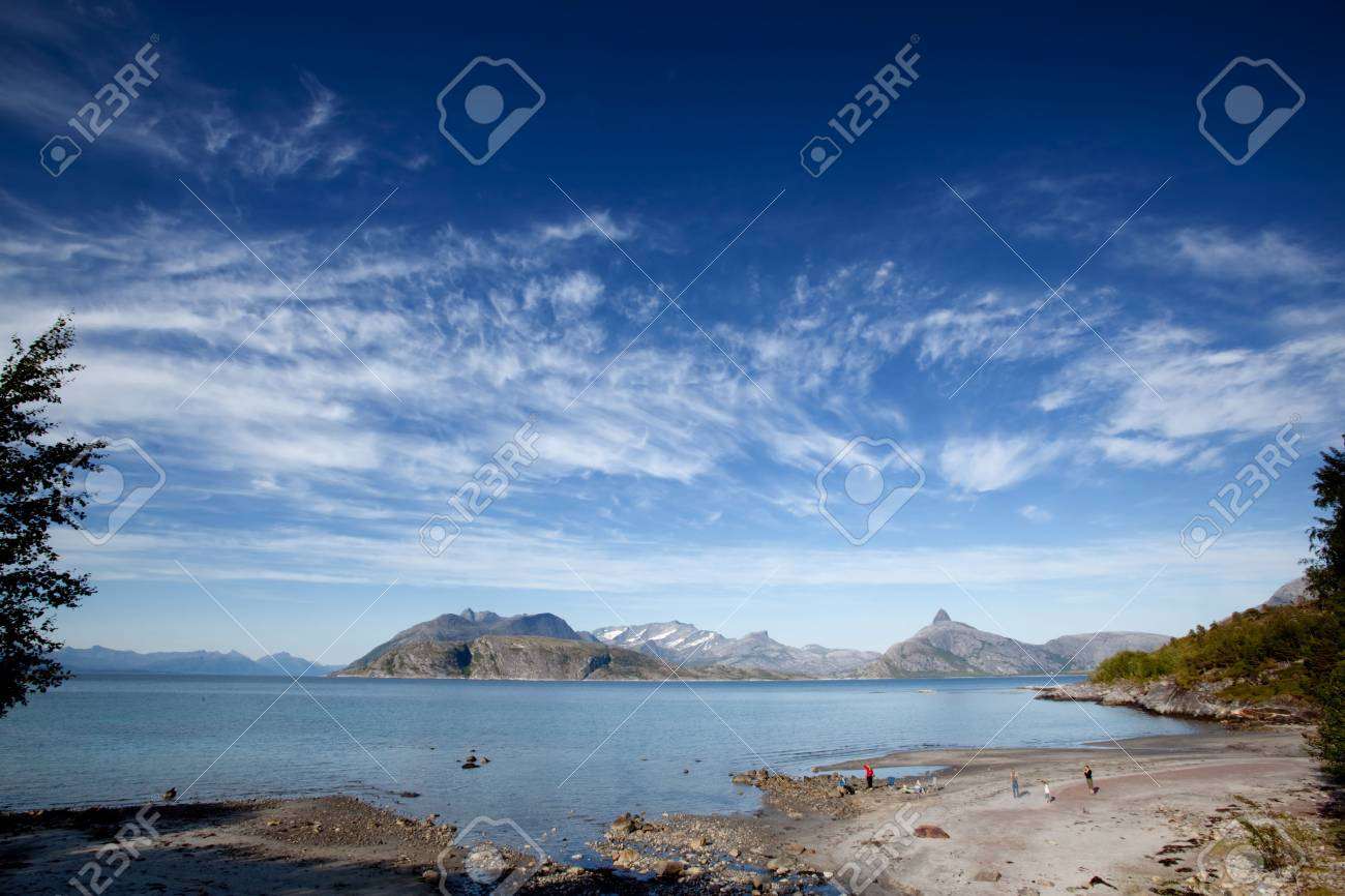A small beach on the coast of northern Norway Stock Photo - 5802364