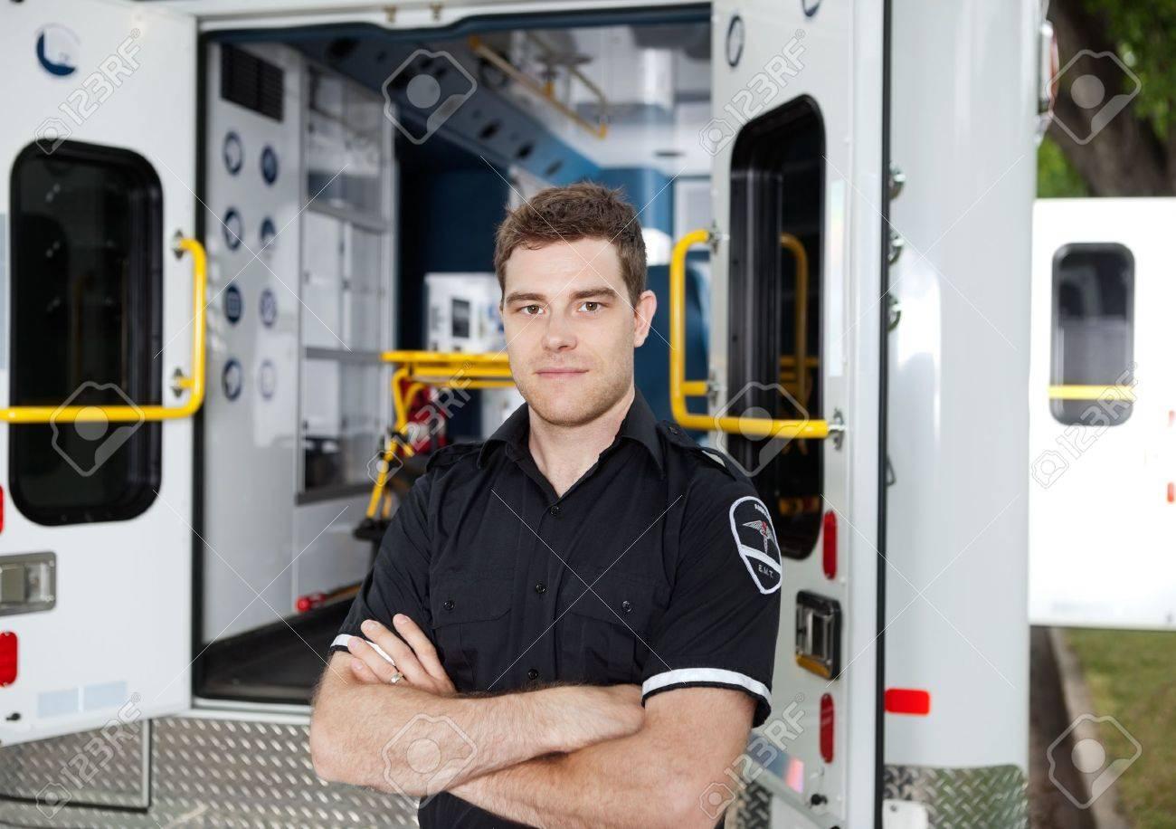 Portrait of a male Ambulance Personal - 10789794