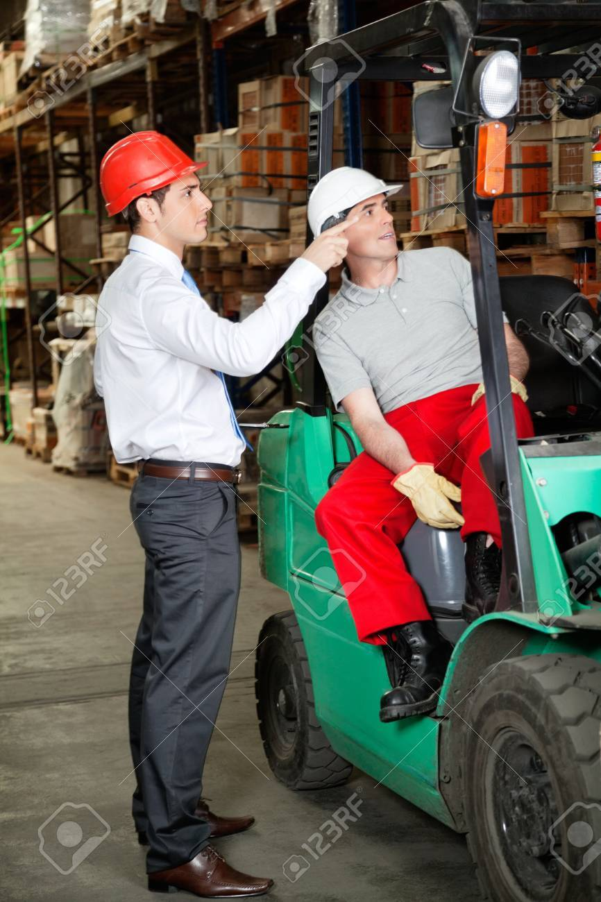Supervisor Instructing Forklift Driver Stock Photo - 16470601