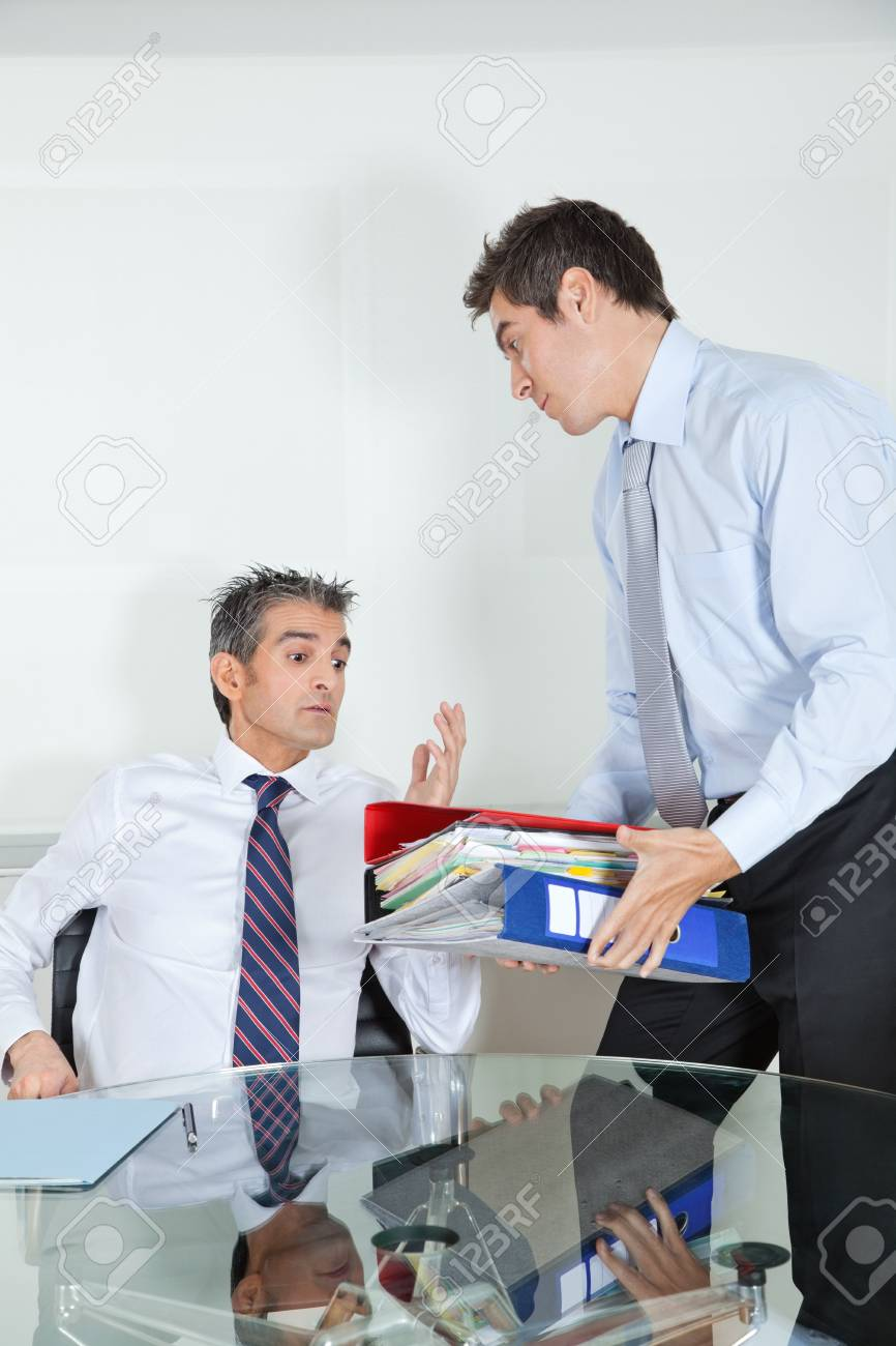 Businessmen Overwhelmed By Load Of Work Stock Photo - 16488908