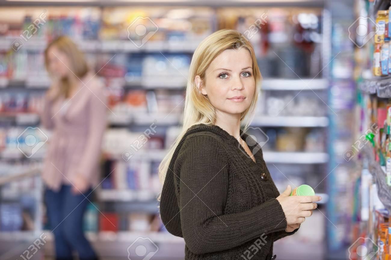 Young Woman Shopping At Supermarket Stock Photo - 16661011