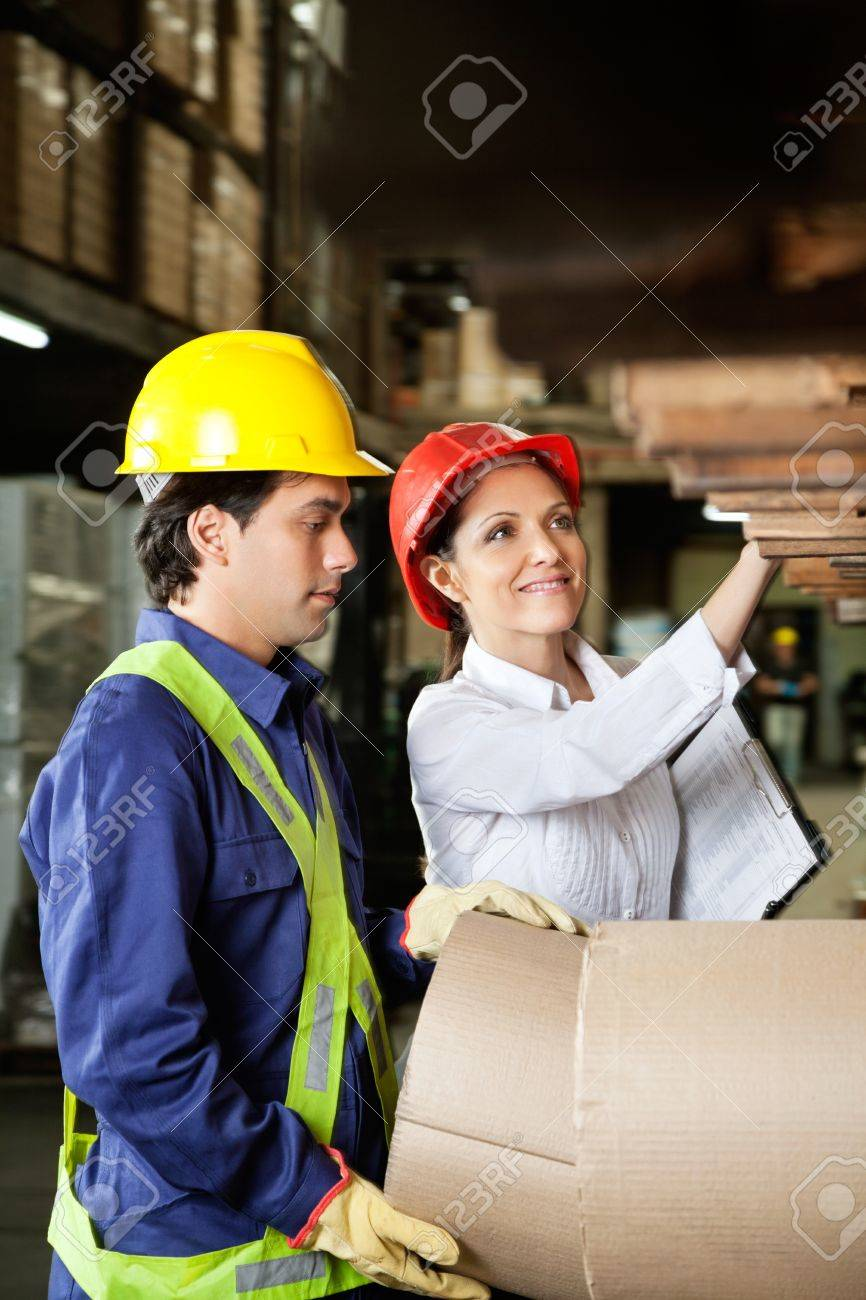 Supervisor And Foreman Checking Stock Stock Photo - 16715223