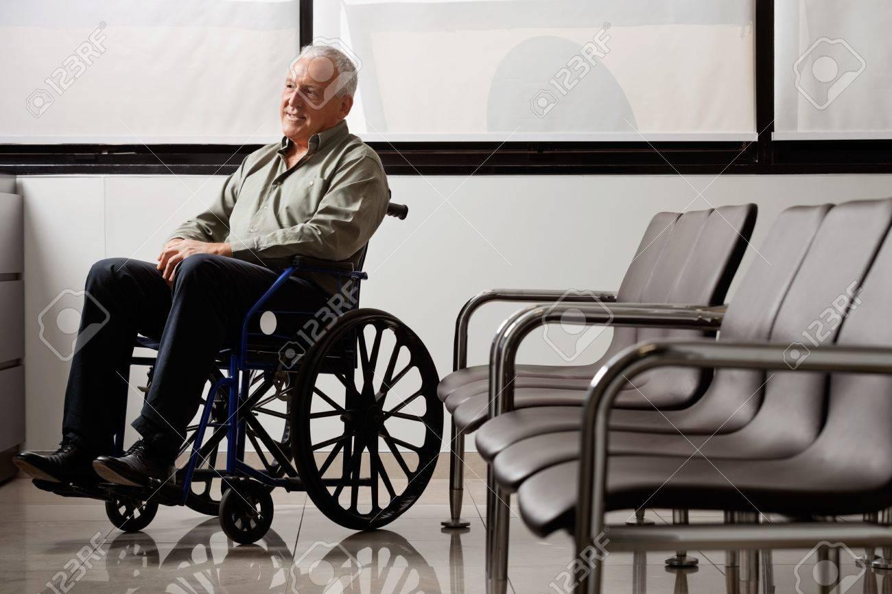 Disabled Senior Man Looking Away Stock Photo - 17238471
