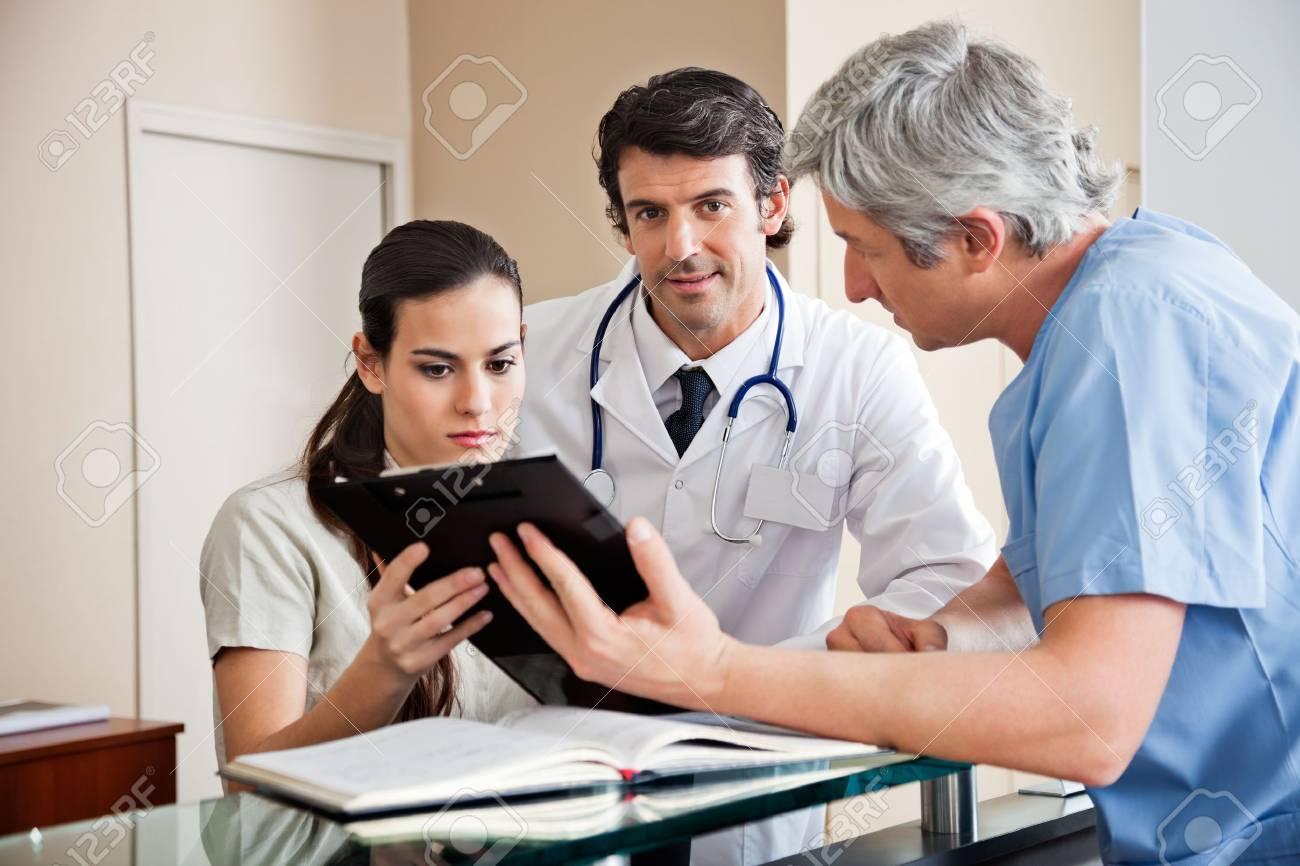 Medical Professionals at Reception Stock Photo - 18236577