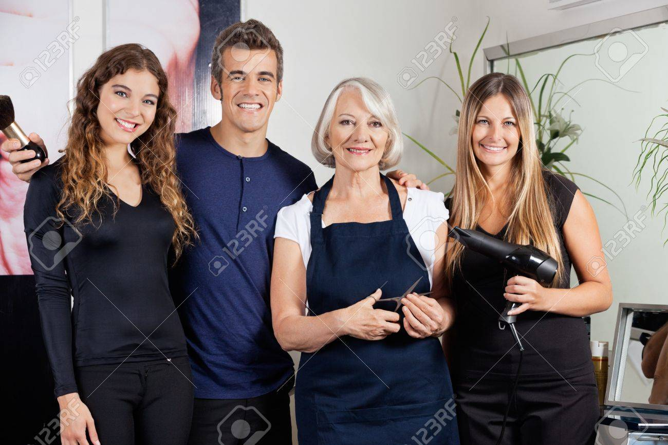 Confident Hairdressers Standing Together Stock Photo - 18301822