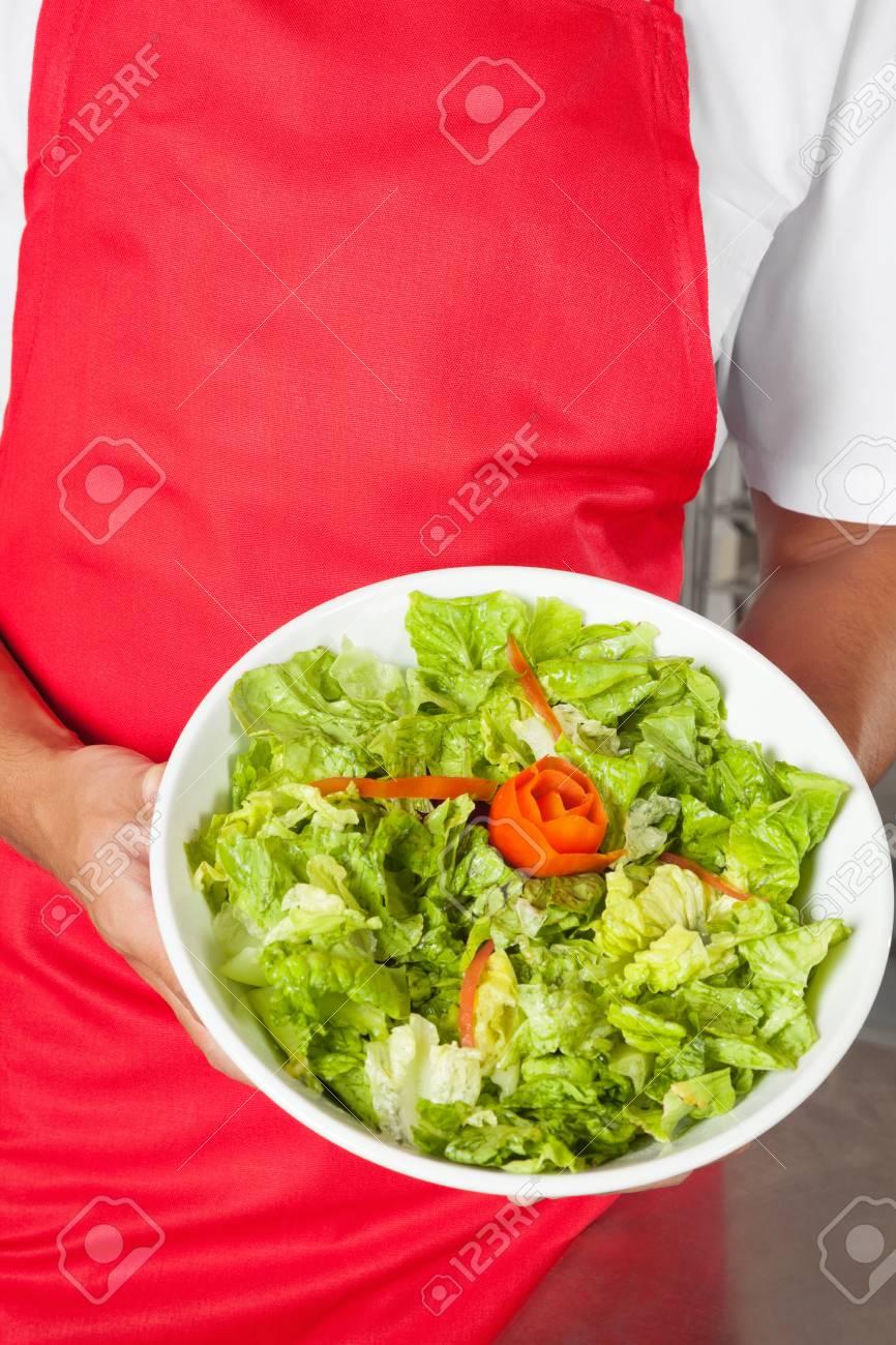 Chef Presenting Salad Stock Photo - 18793423