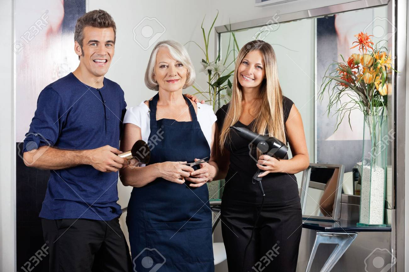 brush and dryer in salon Stock Photo - 18793418