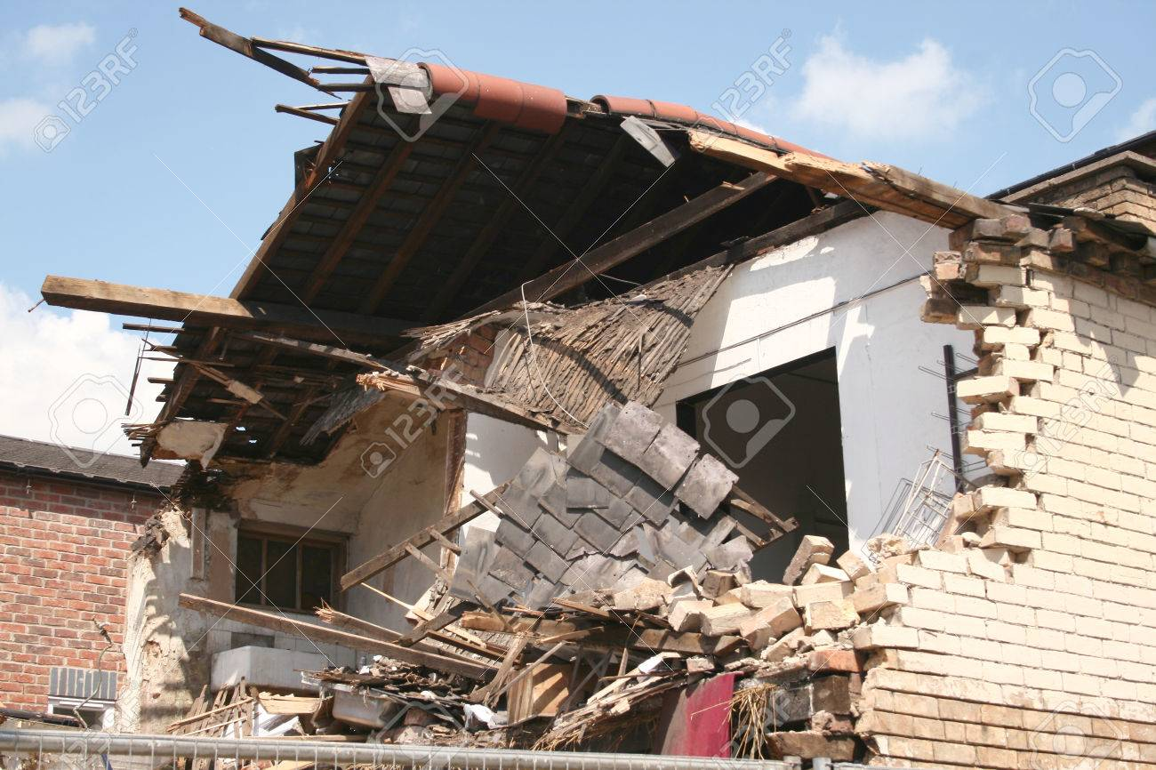 remains of a building which had collapsed Stock Photo - 1637781