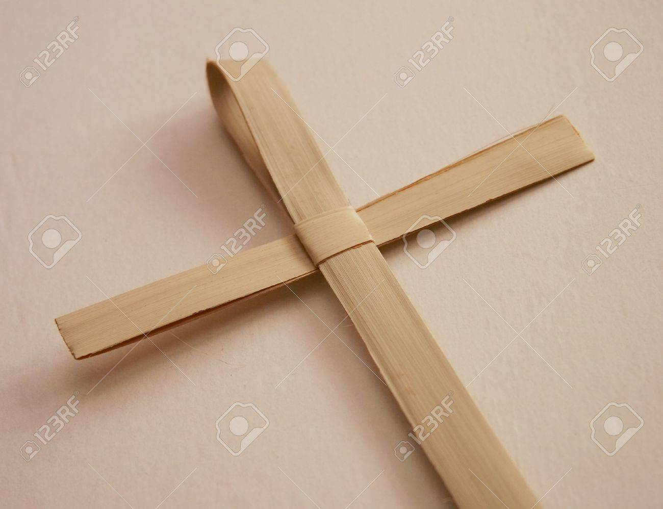 Reed Cross Made For Palm Sunday Mass Stock Photo, Picture And ...