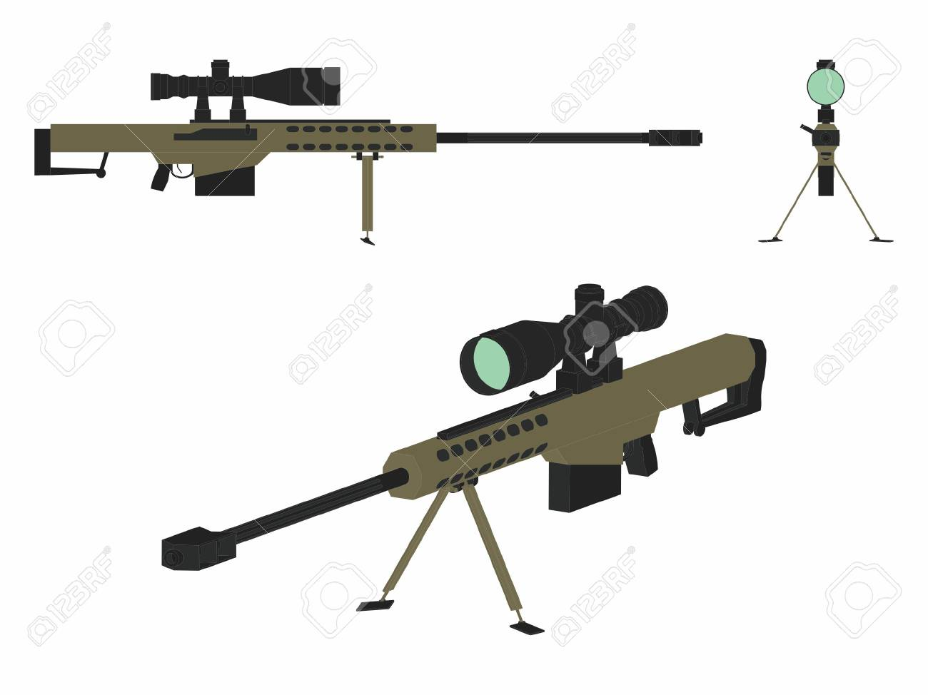Sniper gun colored - 105329392