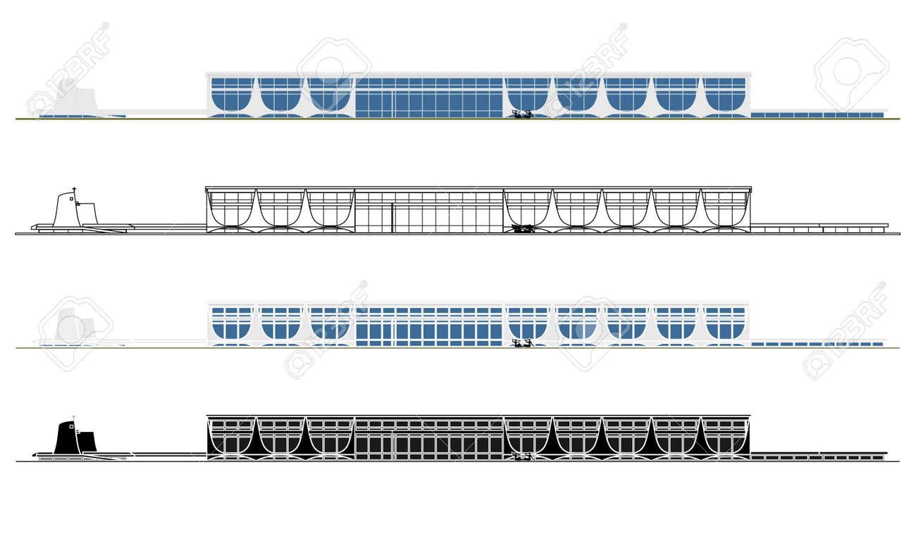 Palace of Alvorada in Brasilia, Brazil - 167242155