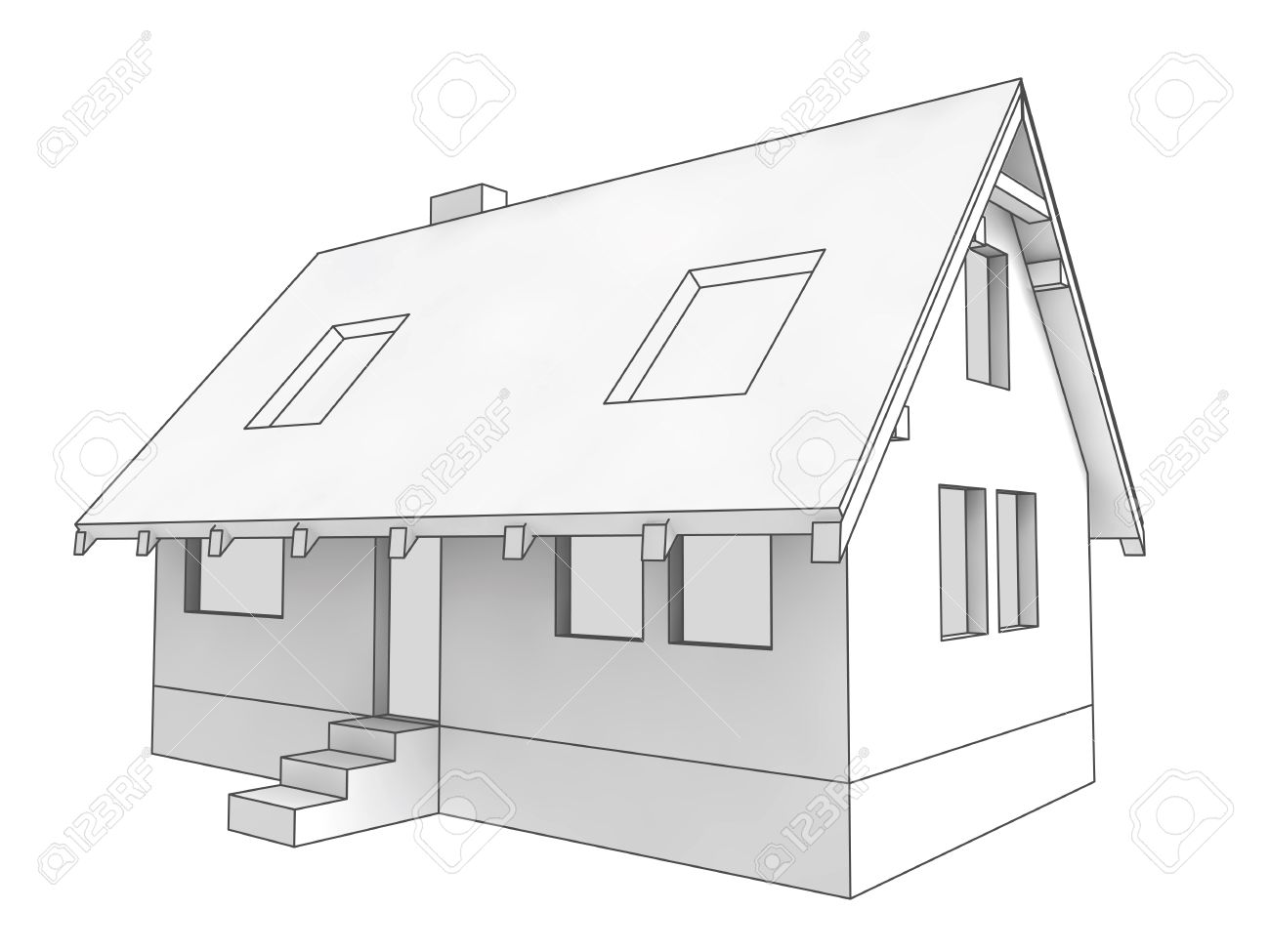 isolated diagram icon of new private house project illustration  : house diagram - findchart.co