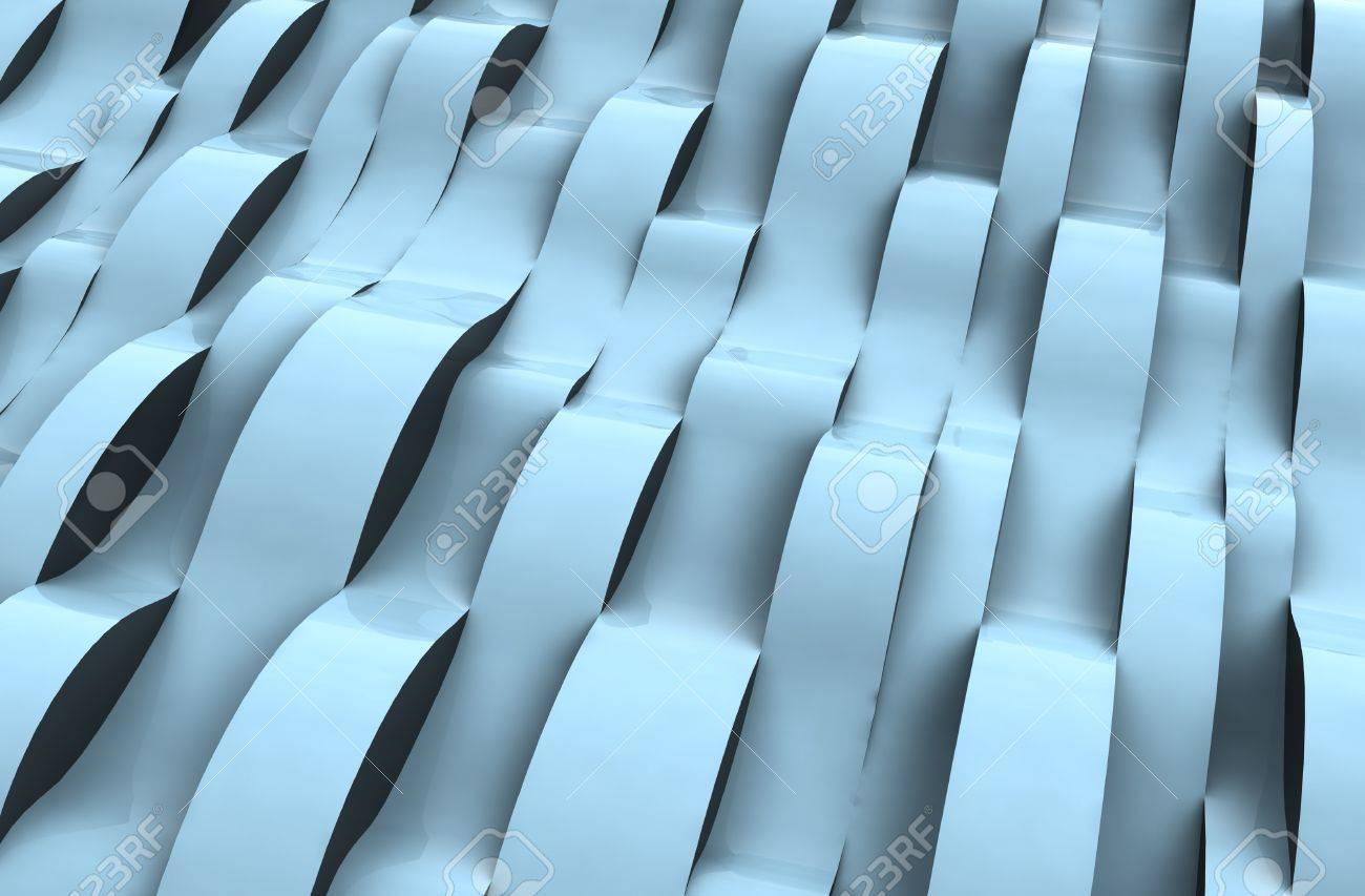 perspective wave blue alighted abstract cool surface shapecard background illustration Stock Illustration - 15793461