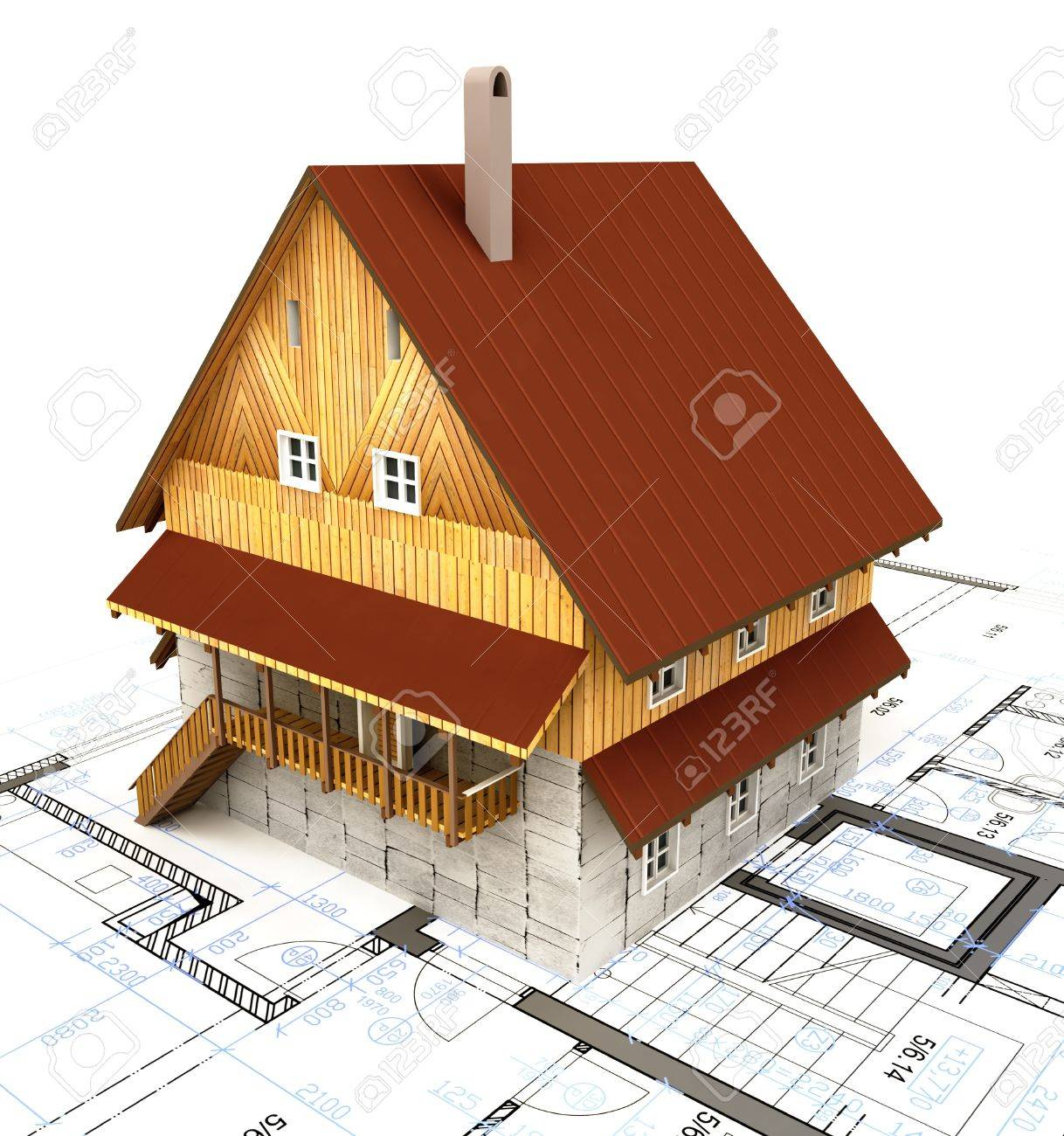 Real Estate Isolated Building House With Layout Plan Illustration Stock  Illustration   17121043